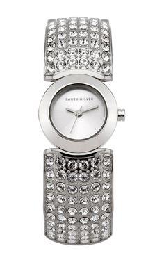 Encrusted Bangle Watch