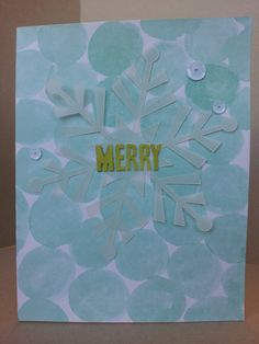 An alternate use for the Watercolor Winter Simply Created Card Kit.