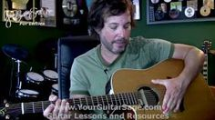 left handed guitar lessons for beginners acoustic - YouTube