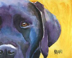 Labrador Retriever Art Print of Original by dogartstudio on Etsy