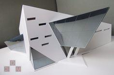 Макет  проекта театрального центра был выполнен в концептуально - архитектурном стиле, в строгой монохромной гамме. Макет демонстрирует здание как с фасадной (экстерьерной), так и с интерьерной стороны. Интерьерная часть демонстрируется за счет съемной кровли, которая состоит из 2-х частей,каждая из частей является отдельным съемным элементом.Масштаб макета 1:50. #макет #архитектурныймакет  #миниатюра #макетнаямастерская #архитектура #макетдома #architecturalmodel #miniature #architectura Triangular Architecture, Folding Architecture, Maquette Architecture, Architecture Concept Drawings, Interior Architecture, Arch Model, Facade Design, Architect Design, Ideas
