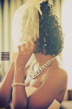 Veil + locs = great bridal hairstyle