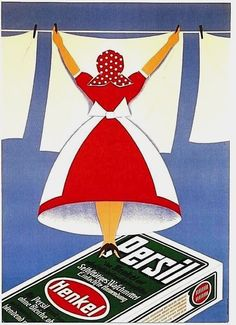 German poster advertising for Persil detergent (1935).