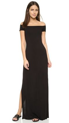 ¡Cómpralo ya!. Bailey44 Hydra Off Shoulder Dress - Black. High slits open the raw hem on this heathered Bailey44 maxi dress. Off shoulder neckline. Cap sleeves. Double layered. Fabric: Soft jersey. 94% rayon/6% spandex. Dry clean. Made in the USA. Measurements Length: 48.75in / 124cm, from shoulder Measurements from size S. Available sizes: L,M,S,XS , vestidoinformal, casual, informales, informal, day, kleidcasual, vestidoinformal, robeinformelle, vestitoinformale, día. Vestido informal…