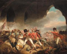 The fall of Seringapatam, a contemporary painting of the ending of the 1799 siege, which resulted in the culmination of the 4th Anglo-Mysore war and the death of Tipu Sultan.