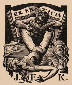 Vintage erotic ex libris