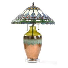 River of Goods Stained Glass Tuscany Sunset Table Lamp - 15038