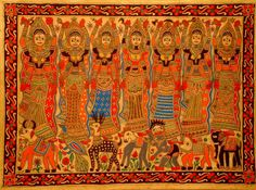 "Matrikas (Matrika singular, Sanskrit: mātṝkā, मातृका ""mother""), also called Matara (Sanskrit: mātaraḥ plural, मातरः) and Matri (mātṛ, मातृ singular), is a group of Hindu goddesses who are always depicted together.[2] Since they are usually depicted as a heptad, they are called Saptamatrika(s) (Sanskrit: saptamātṝkāh, सप्तमातृका:, ""seven mothers""): Brahmani, Vaishnavi, Maheshvari, Indrani, Kaumari, Varahi, Chamunda and Narasimhi."