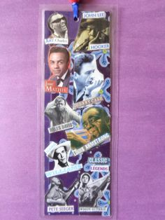 Classic Legends Handmade Collage Bookmark by Pepperland on Etsy, $10.00
