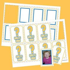 Guess Who card template to turn Guess Who into a number game! Can't wait to try with my firsties!