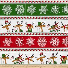 "24/""X44/"" PANEL Christmas Reindeer Funny Poses Red Benartex Where/'s Rudolph"