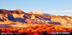 Jan. 6, 2014 morning photo by Taa Dixon, 720MEDIA #website #design #socialmedia #marketing #ColoradoSprings #Colorado #mountains #PikesPeak http://www.720media.com/