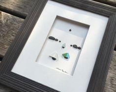 arte de vidrio y piedras de mar 6 por 8 por sharon por PebbleArt