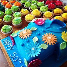 Hawiian shirt birthday cake