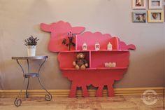 Купить Стеллаж овца - розовый, стеллаж, детская мебель, детская комната, детские игрушки