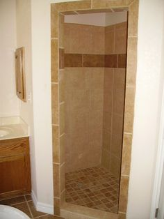 Master bathroom two person walk in shower glass door for 4x5 bathroom ideas