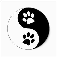 Yin Yang Dog Paws Classic Round Sticker Zazzle Com - Yin Yang Dog Paws Classic Round Sticker Find The Animal Balance Between Positive And Negative With This Black And White Silhouette Dog Paw Print Yin Yang Sign Perfect Dog Lover Gift Idea For The Dog Dog Tattoos, Cat Tattoo, Print Tattoos, Ying Y Yang, Rock Painting Designs, Tattoo Stencils, Dog Stencil, Rock Crafts, Dog Paws