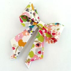 gorgeous paper bow tutorial