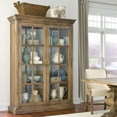 Voranado Driftwood Display Case Western Cabinets And Buffets   Uniquely  Designed To Float In A Room