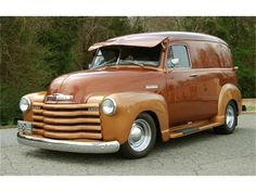1950 Chevrolet Panel Truck -- My dad had a work truck like this in the 50/60's. he had welded ladder racks on the side if the truck to carry ladders and gutters.