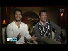 Henry Cavill - Immortals Interview - The most amazing laugh ever!!!