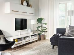 Clear your mind in a black and white living room