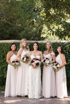 Blush Pink Bridesmaids, Azazie Bridesmaid Dresses, Bridal Gowns, Wedding Dresses, Bride Dresses, Fashion Gallery, Pink Fashion, Rose Petals, Dream Wedding