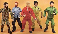 I have a black and white photo of myself as a child with the little guy on the left on my knee.  Kung-fu grip! Kids today will never know how awesome G.I.Joe was once upon a time.