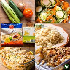 Kuchařka ze Svatojánu: TARHOŇA ZAPEČENÁ SE ZELENINOU Fried Rice, Fries, Cooking Recipes, Meat, Chicken, Ethnic Recipes, Food, Ds, Fitness