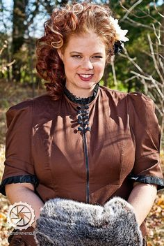 Items similar to Steampunk Blouse Plus Size High Neck Victorian-Custom to Order and above on Etsy Plus Size Steampunk, Moda Steampunk, Victorian Steampunk, Steampunk Clothing, Steampunk Fashion, Plus Size Girls, Plus Size Blouses, Historical Clothing, Alternative Fashion