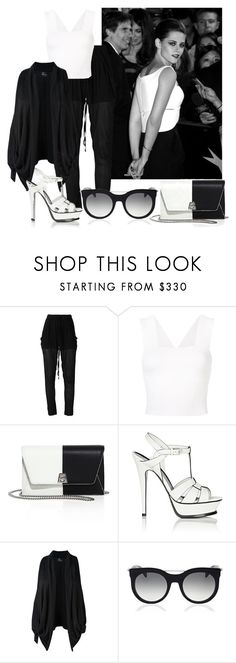 """Untitled #4882"" by caroba ❤ liked on Polyvore featuring Lost & Found, A.L.C., Akris, Yves Saint Laurent and Alexander McQueen"