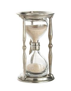 Small Ancient Coin Hourglass