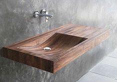 timber wash basin