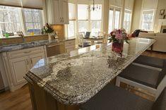 Kitchen: Contemporary Kitchen Decoration Design Ideas With White Wood . Small Kitchen Tiles, Wood Kitchen Island, Granite Kitchen, Kitchen Flooring, Kitchen Countertops, Kitchen Design, Kitchen Decor, Kitchen Backsplash, Kitchen Ideas