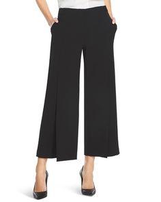 White House | Black Market Wide-Leg Split Cropped Pants #whbm