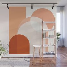 Inspiration board Buy abstract minimal Wall Mural by thindesign. Worldwide shipping available at Bedroom Wall, Bedroom Decor, New Room, New Wall, Sweet Home, House Design, Living Room, Interior Design, Painted Wall Murals