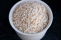 Popped Amaranth. I pop this for Jackson because he has a corn allergy & can't have popcorn. So fun & so healthy! My kids love it:)