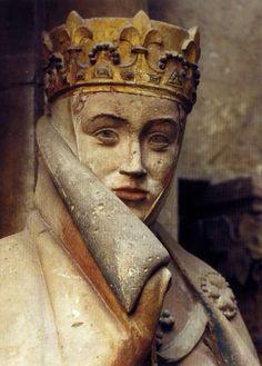 Uta von Naumburg/ galt als eine der schönsten Frauen des Mittelalters.Ist eine der Stifterfiguren des Naumburger Doms