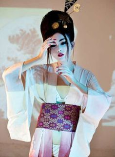 Model Yunn Ru is styled by Thornandes James and Rajasa P. in decadent fashions that evoke ancient Japan