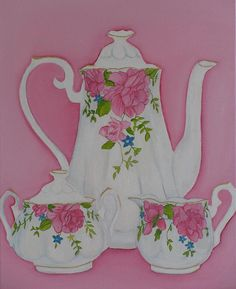 My Royal Doulton English Rose Teaware by Margaret Newcomb >>click image for more information
