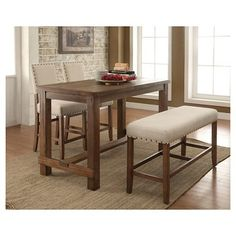 Sun U0026 Pine Eliza Rustic Counter Height Table   Natural Tone