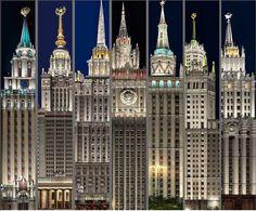Все Сталинские высотки в одном фото