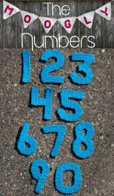 Cijfers haken en daarna leuk versieren met.......