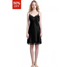 Petite Silk Nightgown Pajamas Slip For Ladies - OOSilk ($38) ❤ liked on Polyvore featuring intimates, sleepwear, nightgowns, petite nightgown, silk nightdress, petite sleepwear, silk nightgown and silk sleep wear