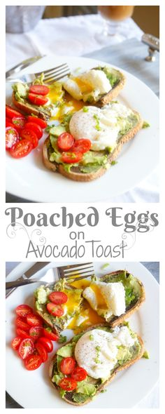 Poached Eggs on Avocado Toast – a super easy breakfast recipe perfect for a routine Tuesday morning or a fancy Sunday brunch Avocado Recipes, Egg Recipes, Real Food Recipes, Healthy Recipes, Healthy Meals, Best Breakfast Recipes, Vegetarian Breakfast, Brunch Recipes, Breakfast Ideas