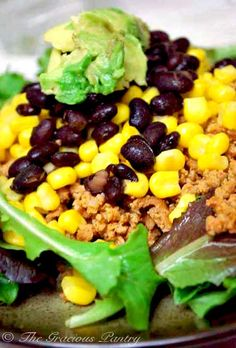 Taco Salad- If my eyes like it- my belly is sure to also:) Clean Eating Meal Plan #8