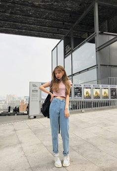 23 trendy ideas fashion summer casual korean fashion summer square blouse kooding com the best in korean fashion and global style Korean Girl Fashion, Korean Fashion Trends, Kpop Fashion, Asian Fashion, Ulzzang Fashion Summer, Korean Fashion Summer Casual, Korean Summer, Mens Fashion, Casual Korean Outfits