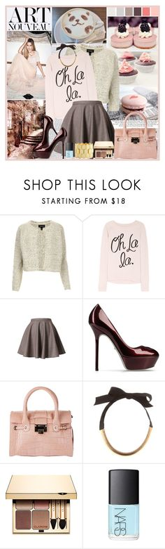"""""""...Where'd you get those fancy clothes?..."""" by klaudia ❤ liked on Polyvore featuring Victoria Beckham, Topshop, Zoe Karssen, Sergio Rossi, Jimmy Choo, Lanvin, Clarins, NARS Cosmetics, Charlotte Russe and big bangles"""