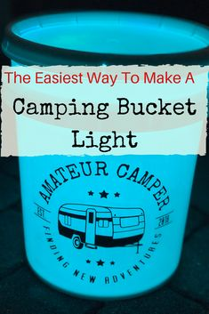 This is the easiest way to make a camping bucket light to take on your next camping adventure. Have the coolest campsite! Camping Diy, Kayak Camping, Camping Stove, Camping Hacks, Outdoor Camping, Camping Hammock, Winter Camping, Camping Gadgets, Outdoor Gear