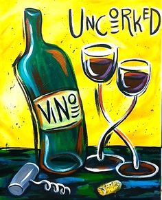 Image result for abstract pictures of wine bottles and glasses